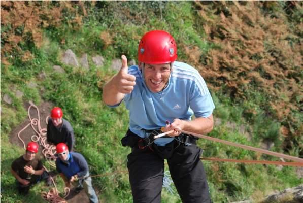 Climbing at Rinsey Head