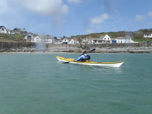 Coverack from the water
