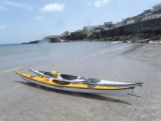 Sea kayaking in Coverack